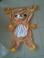 110 cm Large Rilakkuma Bear skin, Plush Stuffed TOY, Soft Figure DOLL, teddy bears hull, animal clothes, not filling