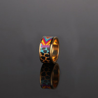 Wildlife Park/Gold enamel/Colored Ring/Original design/Strongly recommended Hot Freeshipping