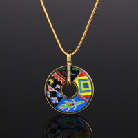 African style/Gold enamel/Color Necklace/Pendant Women/Colorful jewelry Hot Free Shipping