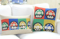 Retro Cotton Pillowcase Cute Colorful Mushrooms Two Kinds Of Decorative Pillows To Keep Cushion Lumbar Pillow Free Shipping