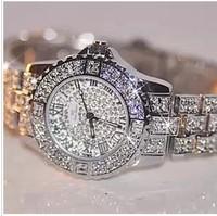 High Quality Sparkling Full women Rhinestone Watches Crystal Table Ladies Watch Sports Women Vintage Designer Quartz dress Watch
