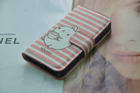 (Cartoon) Flip Leather Case Pouch For iPhone 4 4S,Flip case for iPhone 4 4s