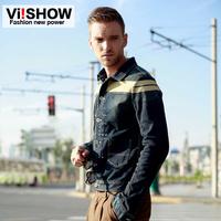 viishow2013 Hitz European and American style men's denim jacket denim shirt men long sleeve shirt jacket