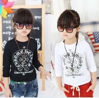 Long sleeve Children clothes Joker t-shirts tee girls backing shirt 3-8T kids t-shirt top wear 613084
