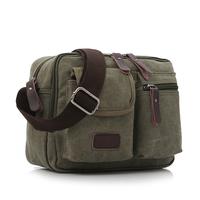 Men canvas cross-body bag multifunctional bag small card holder casual shoulder bag man outdoor commercial bags women's handbag