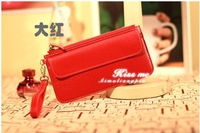 free shipping Kiss me Korean fashion simple hot style wallet card package lot color