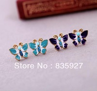 New retro small butterfly earrings paragraphs female earrings wholesale manufacturers selling female free shipping