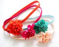 2013 new  arrival flower  elastic headband hot sell korea  style baby girl headbands  36pcs/lot 12colors free shipping
