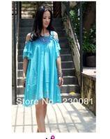 Cute Blue Fashion Folk Style Skirts High quality