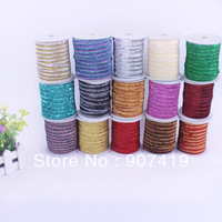 "Free shipping 1""(25mm) Glitter Velvet Ribbon/Metallic velvet Ribbon, 50Yards/Bobbin(no elastic)-ZDR007"