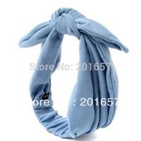 2014 new Wholesale and Retail fashion cotton fabric bunny ear rabbit ear elastic headband hair accessories