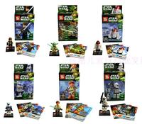 SY Building Block Toy Star War Minifigures Yoda Han Solo Obi Wan Kenobi R4 P17 Construction Educational Bricks Toys for Children