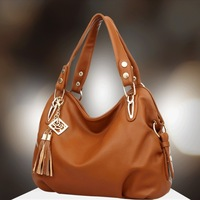 2014   Designer Inspired handbags  women messenger bag [WOMEN GENUINE LEATHER BAGS] women tassel leather handbag