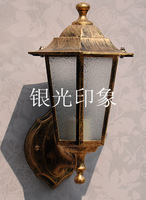 Outdoor lamp wall lamp lamps fashion waterproof wall lamp vintage outdoor balcony wall lights silver