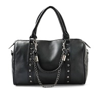 2014 Free shipping one piece women handbag PU handbag women leather handbags motorcycle bag