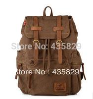2013 HOT:Fashion preppystyle school bag travel bag canvas  travel bag laptop backpack