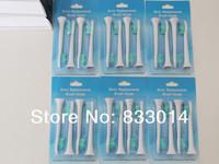 P-HX-6014 Electric Toothbrush Heads 4 Soft Bristle Replacement Heads (1set=4pcs)  200pack=800pcs/lot