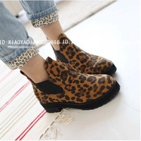 Fashion 2013 autumn and winter leopard print vintage platform thick heel boots motorcycle boots martin boots 35-39