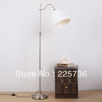 Lighting american brief iron fabric floor lamp