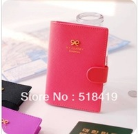 Free shipping sweet bow hasp passport cover passport holder Card & ID Holders