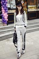 Free Shipping 2013 Autumn Korean Fashion Women's Outerwear Running Sport Suit
