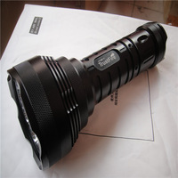 Free shipping  TrustFire 15000 Lumen 12x CREE XM-L XML T6 LED Flashlight Torch 6x 18650 Light 80W Lamp Black