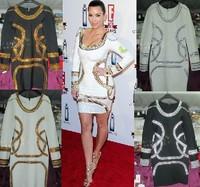Free shipping  new fashion 2013 autumn winter fashion gold silver beading with rhinestone woman short dress