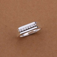 Hot Sell!Wholesale Sterling 925 silver ring,925 silver fashion jewelry ring,middle section inlaid stone smooth Rings SMTR233