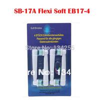 DHL Free shipping 400pcs/100lot Soft Bristle replacement toothbrush head oral eb17-4 sb17-a (1lot=4pcs)