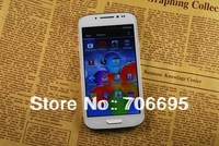 S4 i9500 HTM A9500 H9500 Android 4.2 Smartphone 5 inch QuadBand Core Dual Sim Quad Band WIFI CellPhone HD Screen With Flip case