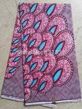 Atacado 2013 Muito Bonita Super Wax Prints Hollandais Africano barato Tecido Materiais 6yards muito 100% algodão AMY208(China (Mainland))