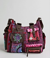 Fashion bags vintage women's desigual handbag embroidered shoulder bag messenger bag canvas bag