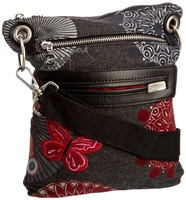 Vintage bag female desigual bag fashion embroidered butterfly canvas bag messenger bag