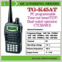 Portable Two Way Radio QUANSHENG Two Way Radio UHF/UHF Multiband Transceiver  TG-K45AT Free Shipping