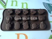 Muffin Chocolate Candy Jelly fondant Cake Mold Silicone Baking Pan animal style