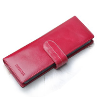 Vintage wax cowhide 58 place card multi card holder male women's card holder women's clip