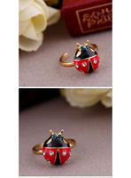 Fashion Vintage Beetle crystal rings vintage jewelry