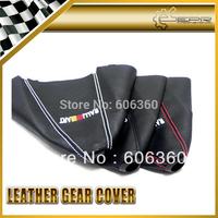 For Ralliart Gear Shift Knob Cover PU Leather Gaiter Sleeve Glove Collars Universal For Mitsubishi EVOLUTION EVO 4 5 6 7 8