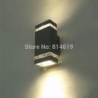 1 pcs/lot 8W LED waterproof outdoor wall lamp IP65  Aluminum Wall Lamp Free  Shipping
