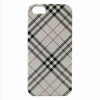 Plaid Pattern Designer Style Hard Case Cover Skin for i 5 Color White