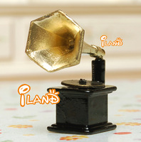 iland 1:12 Dollhouse Miniature Metal Photograph Gramophone