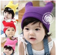New Hot Kids Warm Hats Fit 0-3Yrs Girls Boys Baby Winter Hats Wholesale Children Hats Free Shipping 4PCS/LOT