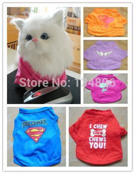 XS - XXL одежды щенка Все включено любимая кошка футболка кошка одежда износ собаки одежды тройники жилеты