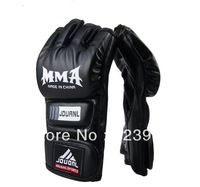 High Quality PU-leather MMA Boxing Gloves Fitness Half Finger Grappling Fight Sparring Mitten KickPunch Gloves Sanda Mitts
