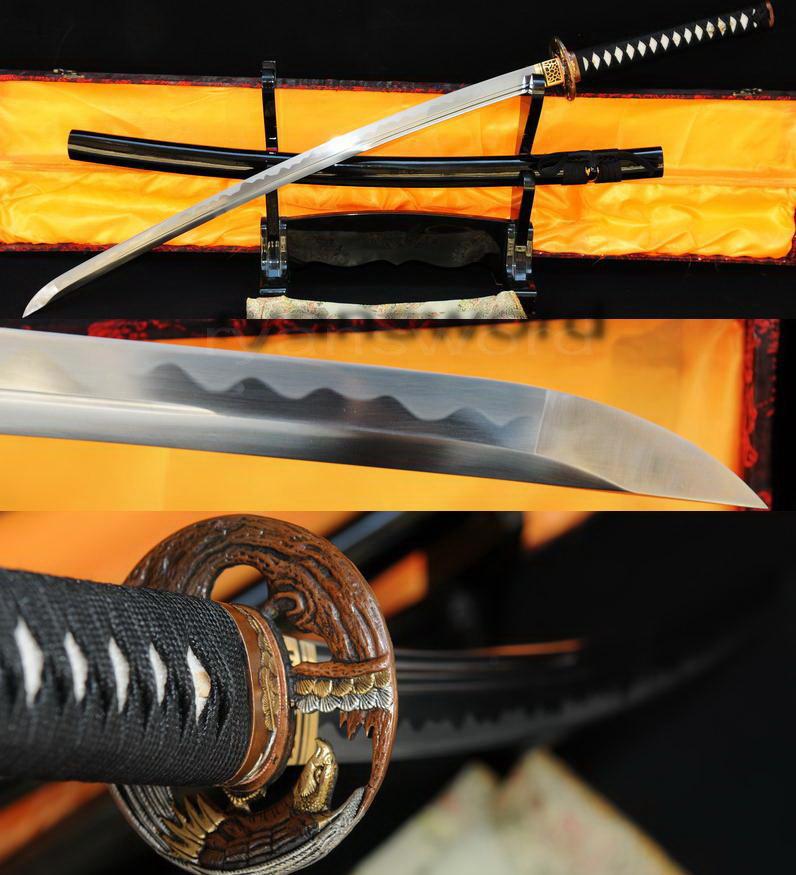 hand forged 1095 high carbon steel Japanese Samurai katana Sword SHARP(China (Mainland))