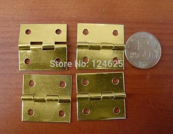 Free Shipping 50Pcs 1inch Mini Wooden wine box Drawer Butt Hinge 25*25mm Yellow small hinge