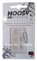 3 in 1 Nano SIM Card Adapter Micro SIM Adapter For iPhone 5 iphone 4 iphone 4s with Eject Pin