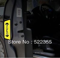 8pcs (2 pages) /lot 2 colors Car Door OPEN reflective stickers, warning sticker, car necessary choice free shipping