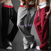 HK Free Shipping! 2013 Quality Mens Casual Loose Joggers Jogging Training Sport Pants Trousers Tracksuit Bottoms Plus Size M/XXL
