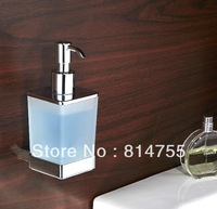 Free Shipping Soap Dispenser/Lotion Dispenser,Brass base in Chrome +Frosted glass container,Bathroom Hardware accessories #WT16